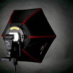 SMDV Diffusor-50 (Speedbox-50) Mobile Hexagon-Softbox 50 cm sechseckig für entfesselte Aufsteckblitze kaufen im Enjoyyourcamera.com Shop