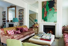 Elegant & Eclectic: Feminine & Eclectic Living Room