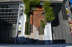 Landscape Architecture, Landscape Design, Roof Terrace Design, Tree Planters, Deck Tile, Corten Steel Planters, Ipe Wood, Patio, Decks