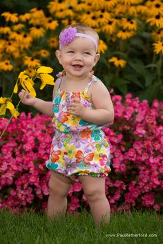 baby with flowers bay harbor photo by paul retherford photography, http://www.paulretherford.com