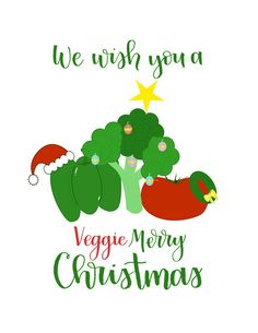 Give this card to any veggie lover or just someone in need of some Christmas cheer! Our letterer would be happy to customize the inside for you. 4.25 x 5.5 Get this card in addition to our other holiday designs in our Holiday Pack! 1 card for $4.25 or 5 cards for $20
