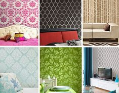 Damasks and Allover stencil patterns! So trendy, so hip, so modern... So tempting! But can it actually be done? Especially, if one has never stenciled before?    Well, it certainly can be done. It's not even that difficult! In fact many, many of our customers who are stencil newbies did i
