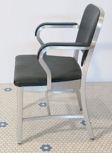Vintage Goodform Chair Aluminum Navy Emeco Industrial Office