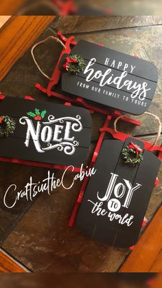 holiday Crafts cricut - Chalk Couture on Dollar Spot Sleds Christmas Craft Show, Dollar Tree Christmas, Easy Christmas Crafts, Christmas Signs, Diy Christmas Ornaments, Homemade Christmas, Christmas Projects, All Things Christmas, Chalk Board Christmas