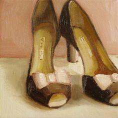Chocolate Brown Heels ~  janethillstudio