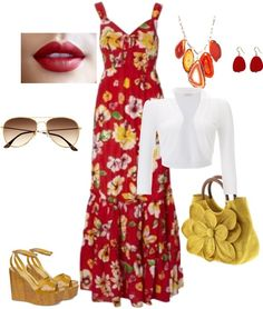 summer red, created by anysoto on Polyvore