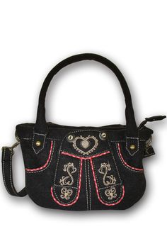 Braune Trachtentasche von Krüger im Lederhosen-Look