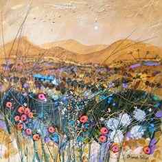 Deborah Phillips_Cairngorm Gold_Hand Embellished Signed Limited Edition_15x15 l Scottish Contemporary Art