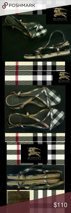 ⭐  Burberry Nova Check espadrille sandals Cute Burberry espadrille sandal with .5 inch espadrille sole and Nova check straps. Buckle closure. The Nova check part is clean and in great condition.  Wear on insole that rubbed logo and bottom sole. Size 39, as marked on the shoe. Posh converts to US size 9. NO TRADES PLEASE! OFFERS WELCOME THROUGH OFFER FEATURE ONLY PLEASE! Burberry Shoes Sandals