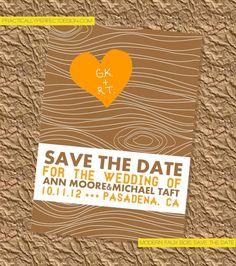 Modern Faux Bois Save The Date Digital Design by GabrielleKearney, $12.00