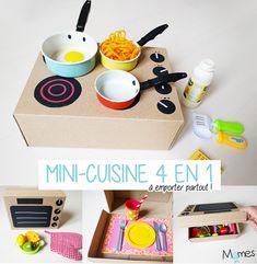 Cardboard Kitchen, Diy Karton, Diy Kids Kitchen, Cocina Diy, Licht Box, Dramatic Play Centers, Presents For Kids, Kids Zone, Toddler Play