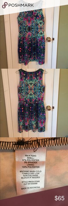 Gorgeous & Colorful Cynthia Rowley Dress Cynthia Rowley colorful dress with pockets!! Never worn. Super comfortable and stretchy. Perfect for an upcoming wedding or shower! Cynthia Rowley Dresses