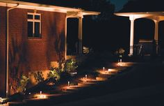 Inviting use of #Hadco path lights  #landscapelighting