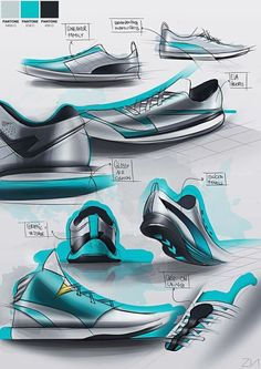 Sketches we like / Shoe / Fast coloring / Green / Sports equipment / Fashion Design / at tastysketch