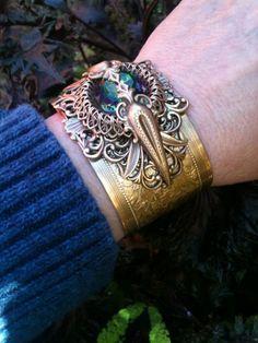 Victorian Style Cuff Bracelet Vintage #SteamPunk Exclusive Design