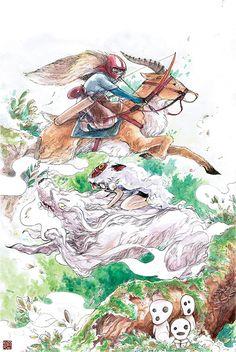 """Spirit of the Wind"", los artistas homenajean a Studio Ghibli Hayao Miyazaki, Studio Ghibli Art, Studio Ghibli Movies, Totoro, Japanese Animated Movies, Cool Animations, Manga Drawing, Fan Art, Character Design"