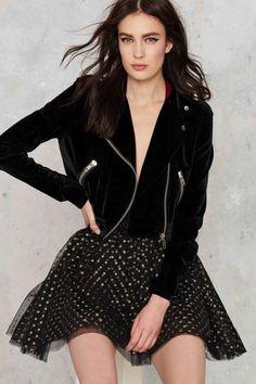 Ryder Velvet Moto Jacket