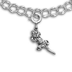 Sterling Silver Bearded Dragon Charm for Charm Bracelet by The Magic Zoo *** You can find out more details at the link of the image.