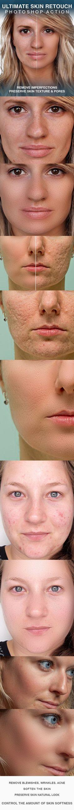 Skin retouching photohsop action