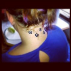 Paw print tattoo.  I think this is the one I want to do!!!