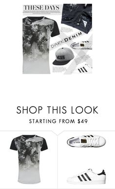"""Menswear Essential: Dark Denim"" by jecikilicica ❤ liked on Polyvore featuring Religion Clothing, adidas Originals, Vans, men's fashion, menswear, darkdenim and menswearessential"