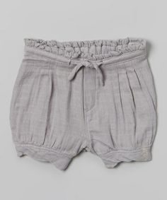 Another great find on #zulily! Gray Stripe Muslin Shorts by Layered Cake #zulilyfinds