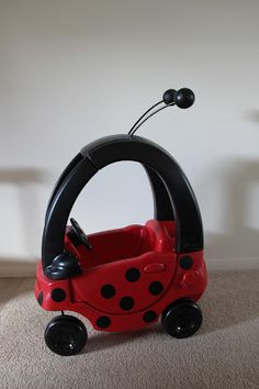 DIY Cozy Coupe Ladybug I want to do this for zariah!!!!!