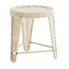 Round Metal and String Stool