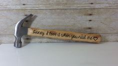 Naughty Valentines Day Gift for Him - Personalized Hammer - Adult Anniversary Gift for Him - Father's Day Gift from Wife - Dirty Birthday Gift for Him by KyMadeCrafts on Etsy
