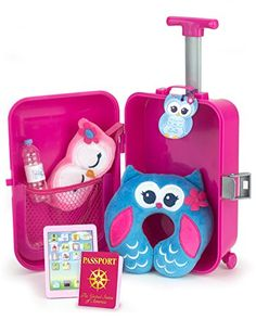 Doll Travel Play Set by Sophia's 7 Piece Doll Accessory Luggage Set for your Favorite American Doll, Complete Doll Suitcase Travel Accessory Set - Your Dream Toys American Girl Accessories, Baby Doll Accessories, Travel Accessories, Doll Crafts, Diy Doll, Baby Alive Dolls, Baby Dolls, Baby Girl Toys, Girls Toys
