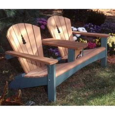 For sale is our two-seater Adirondack chair. This makes a perfect addition to any porch, deck or garden. Options include: Natural Finish