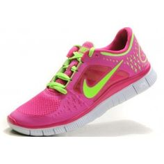 best service 0ca5c 1d656 Raspberry pink and bright yellow Discount Nikes, Nike Women, Nike Free Runs  For Women