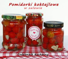 Pomidorki koktajlowe w słonej zalewie-Codziennik Kuchenny