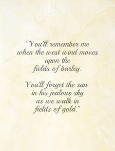 """Fields of Gold"", lyrics ""Will you stay with me, will you be my love Among the… Fields Of Gold, Sky Walk, Field Of Dreams, Easy Listening, Boho, Jealous, Beautiful Words, Film, Joe Dassin"