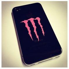 Monster energy drink phone case