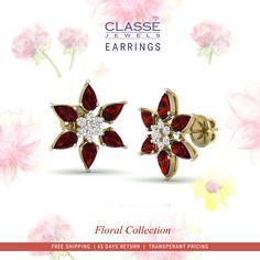 Gold Diamond Earrings, Diamond Jewelry, Gold Mangalsutra, Wedding Season, Brooch, Seasons, Jewels, Detail, Floral
