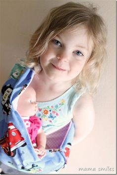 Baby doll carrier tutorial from @Mama Smiles - Joyful Parenting