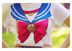 SSJ Harajuku Fashion Sailor Moon Style T Shirt Cosplay Costume Camisa Sailor Moon, Sailor Moon Shirt, Sailor Moon Birthday, Sailor Moon Party, Pastel Goth Outfits, Anime Outfits, Cool Outfits, Harajuku Fashion, Kawaii Fashion