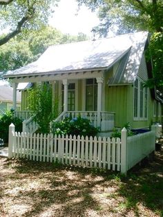 A sweet green cottage