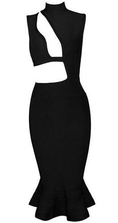 very sexy, body-con fit, turtleneck, dress length above knee, back zipper…