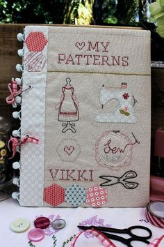 Embroidery Patterns My Sweet PDFs album by Love Scrapbook, Scrapbook Albums, Embroidery Patterns, Hand Embroidery, Sewing Patterns, Cute Crafts, Diy Crafts, Sewing Crafts, Sewing Projects