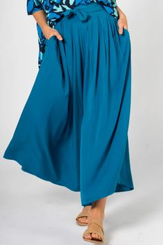 Flare Pant in Marine Teal – PQ Collection