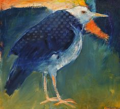 Mel McCuddin, The Watching Bird 2014, oil