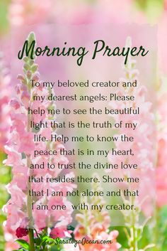 The greatest distress in life occurs when we become unaware of our union with God, our creator. Take a few moments to heal any perception of separation with this simple prayer. Blessings and have a beautiful day! <3