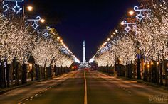 Andrássy Avenue  in Chistmas lights (UNESCO World Heritage Site). #Budapest #xmas