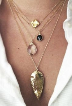 small, short necklaces to layer with (not those exact ones, thats just an example)