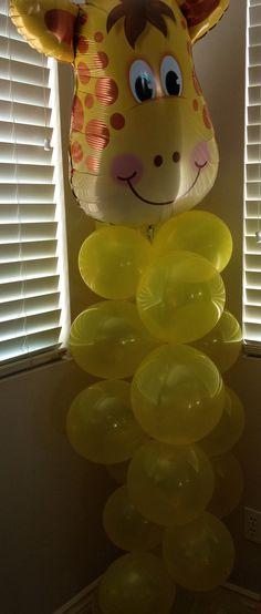 Jungle themed baby shower giraffe balloon!