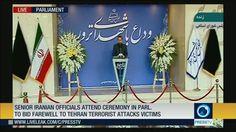Senior Iranian officials attend ceremony in Parl. to bid farewell to Tehran terrorist attacks victims