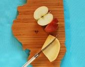 what a cute house warming gift! AHeirloom's Illinois State Cutting Board