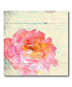 Loving this Watercolor Flower Wrapped Canvas on #zulily! #zulilyfinds